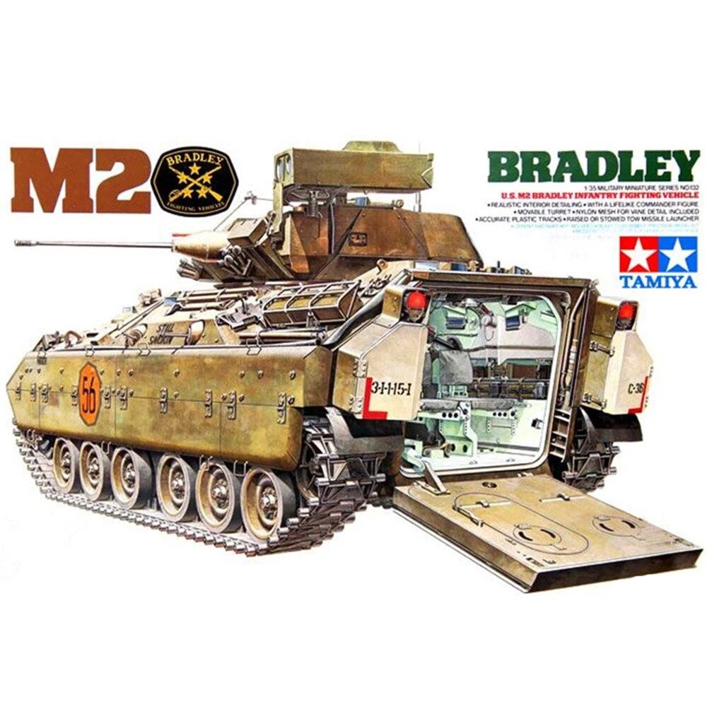 Tamiya 35132 Kit de construction de modèles de Chariot 1:35 échelle us M2 Bradley cavalerie véhicule de combat assemblage jouets pour enfants enfant et adulte