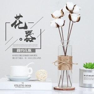 Image 4 - Jarrones de vidrio nórdico creativos decoración de mesa de sala de estar, transparente, agua, hidropónico, cuerda de flores, florero seco, botella Diy