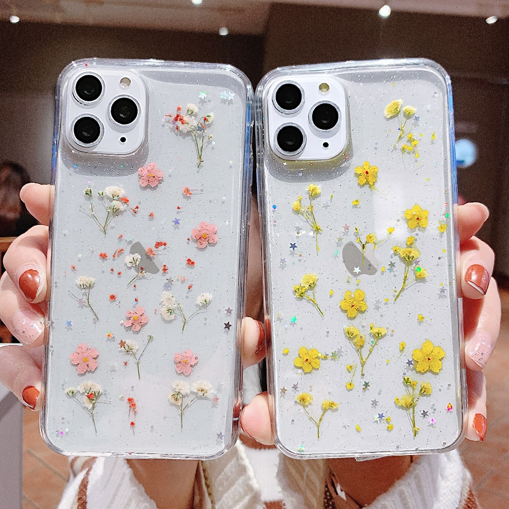 Women Flower Silicone Soft Case <font><b>for</b></font> <font><b>Samsung</b></font> <font><b>Galaxy</b></font> A71 <font><b>A70</b></font> A51 <font><b>A50</b></font> A40 A30 A20 A10 Cute Transparent <font><b>Shockproof</b></font> TPU Phone Cover image
