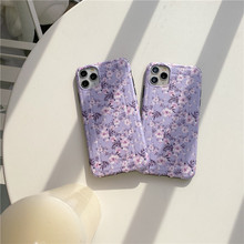 Purple lavender floral cases For iphone 11 Pro Max Paper clip fashion soft IMD Phone Case for 7 8 plus X XR XS MAX cover