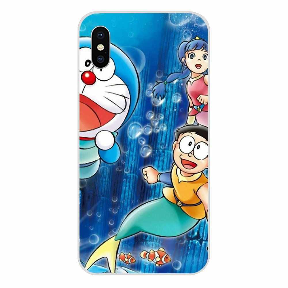 Dễ thương Hình Doraemon Màu Xanh Mèo Màu Cho Apple iPhone 4 4S 5 5C 5 5S SE 6 6S 7 8 Plus X XS Max XR Đầu Chi Tiết Phổ Biến Giá Rẻ Bán Buôn