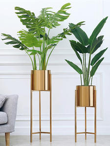 Floor-Vase Planters-Centerpiece Dried Flowers Metal Home Deco Gold Pots for Lobby Hot-Sale