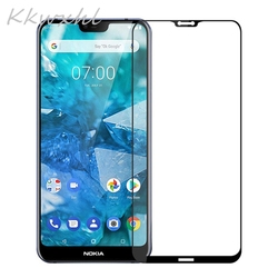 На Алиэкспресс купить стекло для смартфона tempered glass for nokia 6 (2017) 8.1 7.1 7 plus x71 2.2 3.2 4.2 6.1 full cover 9h film explosion-proof screen protector cover