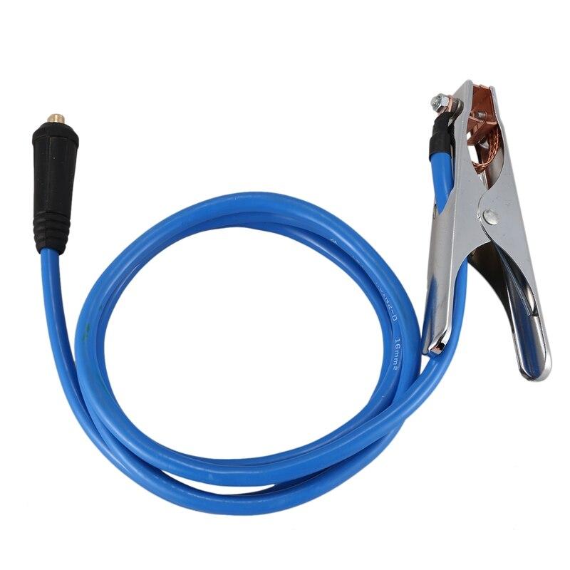 Cable de 5 M Cable de 200 M Abrazadera una Tierra de 2 M Dasing Accesorios para M/áquinas de Soldar Cable de Electrodo de 200 Amp Ambos con Conector Dkj10-25