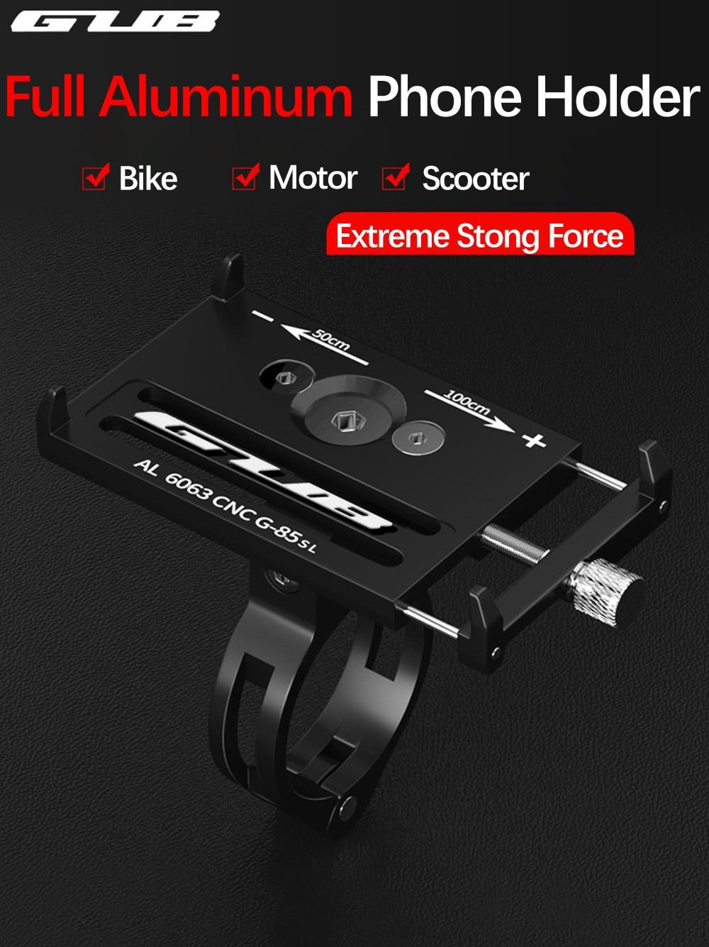 Велосипедный держатель для телефона GUB G85, алюминиевый крепежный кронштейн для смартфона, для samsung, huawei, xiaomi, iphone