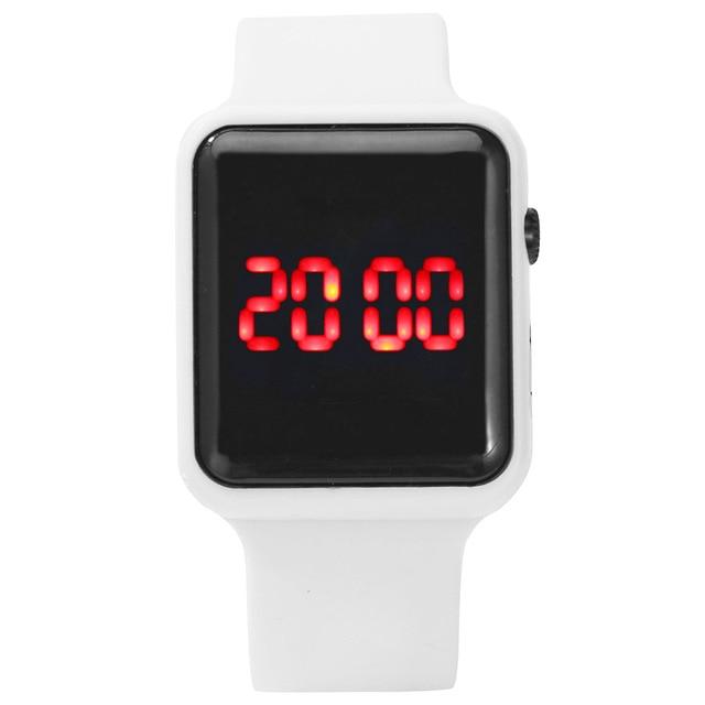 2020 homens mulheres led relógios pulseira de silicone relógio eletrônico único relógio quadrado esporte correndo relógio de pulso presentes relogio masculino 2