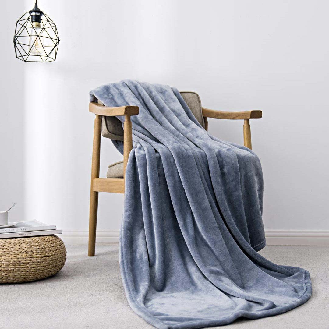 New Xiaomi Mijia COMO LIVING Flannel Solid Warm Velvet Antibacterial Blanket Anti-static For Sheets And Office Home 3 Colors