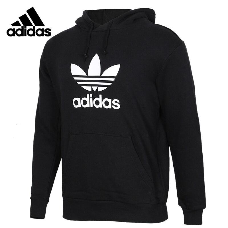 Adidas Neo TREFOIL HOODIE Black Down Jacket Mens Running Jas Sport Kleding Wind-proof Hoodies DT7964