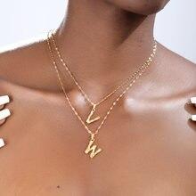 Гот нержавеющая сталь Начальная буква ожерелье для мужчин и