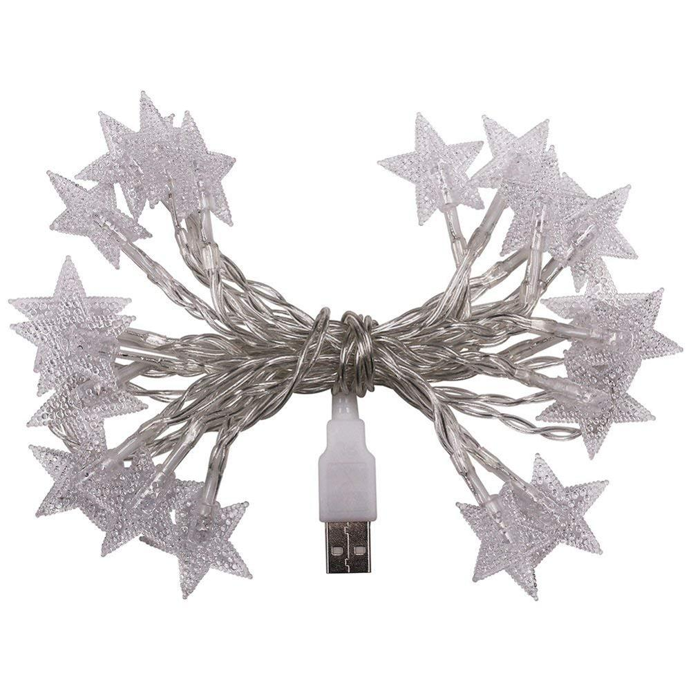 2m/3m/5m/10m LED Star Light String Twinkle Garlands USB 5V Powered Christmas Lamp Holiday Party Wedding Decorative Fairy Lights