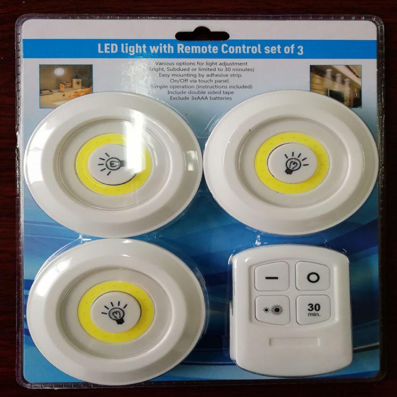Işıklar ve Aydınlatma'ten LED İç Mekan Duvar Lambaları'de Yeni LED/COB PIR kızılötesi hareket sensörü kablosuz gece lambası dedektörü ışık uzaktan kumanda LED duvar lamba ışığı otomatik açık/ kapalı title=