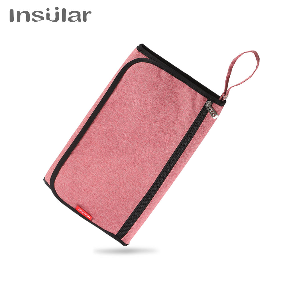 Portable Baby Diaper Changing Pad Waterproof Travel Appliance Zipper Mesh Breathable Changing Mat