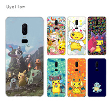Uyellow Cute Pokemans Pikachues Case For One Plus 7 Pro 6 6T 5 5T Fashion Fundas Printed Cover Luxury Silicone Soft Phone Coque
