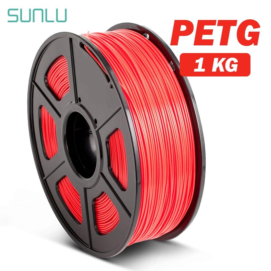 PETG 3D Filament 1.75mm 1KG 2.2lb PETG 3D Printer Filament Dimensional Accuracy +/- 0.02mm Translucence PETG Filament