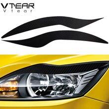 Vdéchirure – autocollant de sourcils pour Focus 2 mk2, en fibre de carbone, couverture extérieure, accessoires de style de voiture, 2009