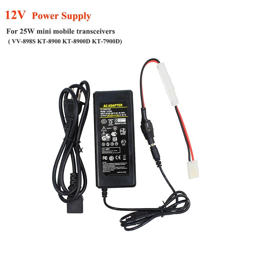 12V Mini Radio Power Supply Home Use FM Transceiver Charger AC 100-240V Output 12V KT-7900D VV-898S Mini Car Radio Standar
