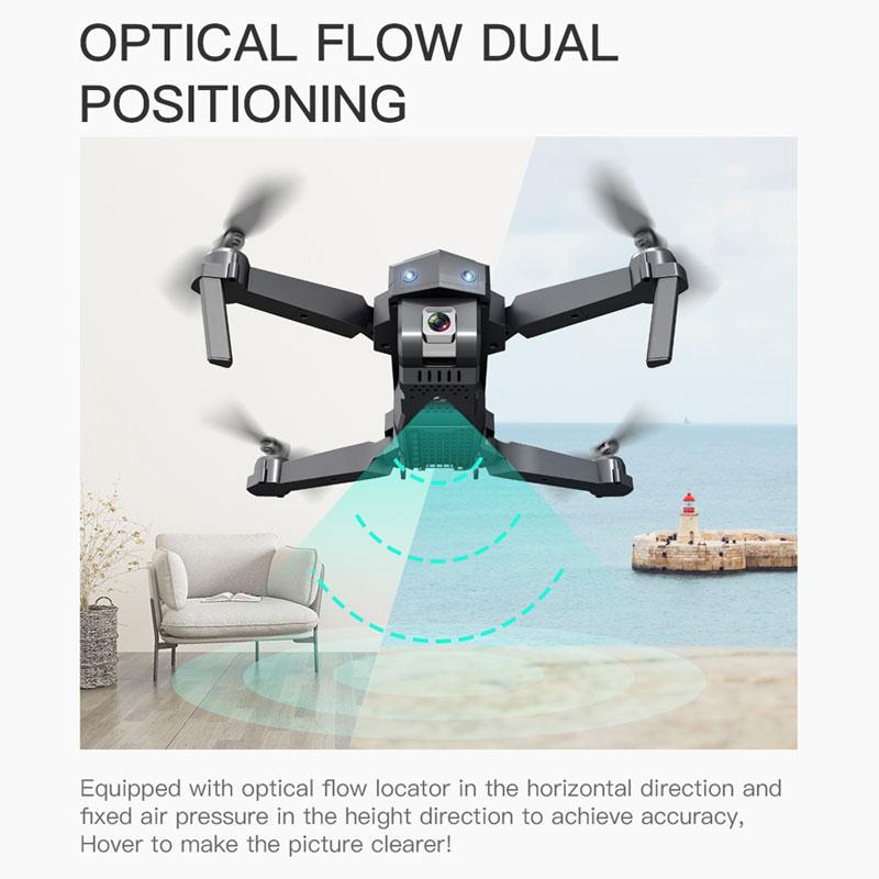 ZLRC SG107 Mini Drone mit 4K WIFI 1080P FPV Kamera 2,4 GHZ Quadcopter Optischen Fluss Quadrocopter Kamera Spielzeug VS E58 E68 SG106