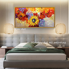Large oil painting Hand painted landscape wall art picture flower for living room bedroom decoration