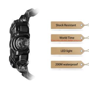 Image 2 - Casio часы мужчины г шок умные цифровые часы лучший бренд класса люкс комплект кварц 200м Водонепроницаемый Спорт дайвинг наручные часы G Shock Военный светодиод Bluetooth Музыка управления мужские часы relogio reloj