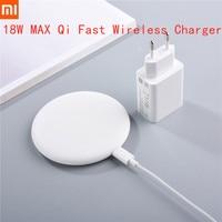 Original XIAOMI Mi 18W EU Schnelle Drahtlose Ladegerät Qi Quick Charge Desktop für Mi 10 9 Pro Mix 2S 3 iPhone 7 8 X XS 11 Pro 12 Mini