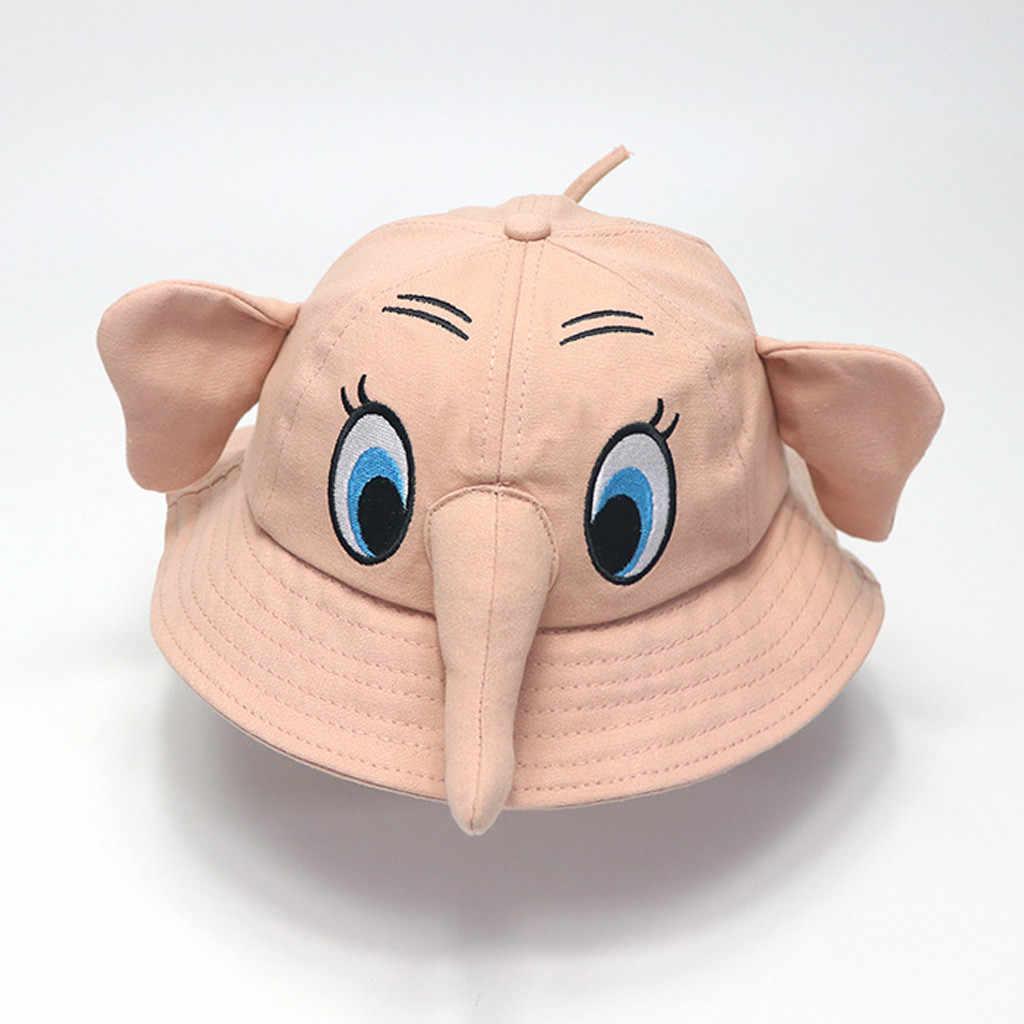 Baby Boy Girl Soft 3D Cartoon Elephant Sunhat Eaves Baseball Cap Sun Hat Beret Sun Hat chapeau Visor headdress Drop Shipping