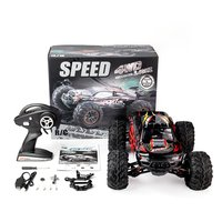 1/10 Scale 2.4Ghz 4WD 60 km/h High Speed RC Bigfoot Big Wheels Off Road Rock Race Truck Electric RC Remote Control Car Model Toy