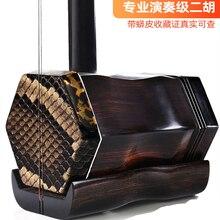Abanoz ERHU forAdult çocuk enstrüman Huqin Erhu çin enstrüman Instrumentos müzikal profesyonel dize ile sert çanta