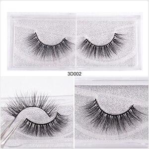 Image 2 - WZSQJN Eyelashes 3D Mink Eyelashes Long Lasting Mink Lashes Natural Dramatic Volume Eyelashes Extension False Eyelashes