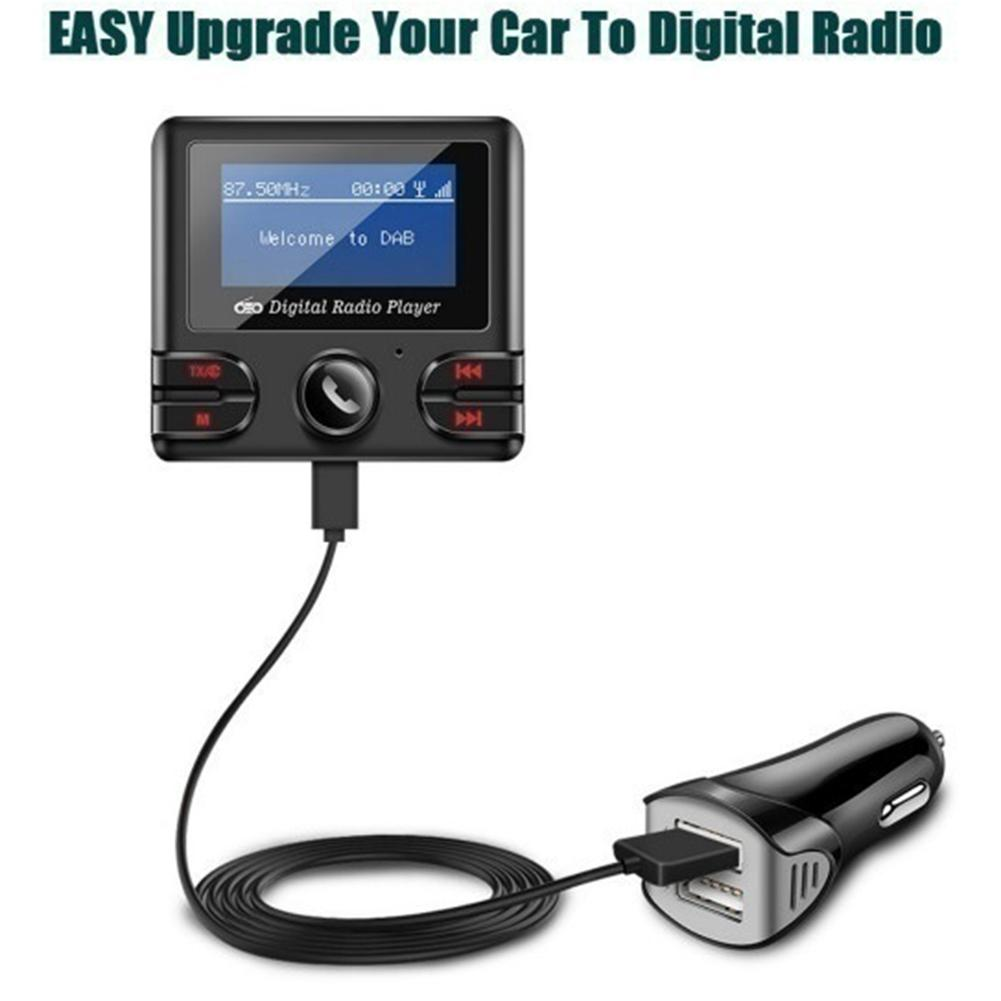 Kit d'antenne émetteur FM universel pour voiture 3.5mm AUX DAB + récepteur Radio FM