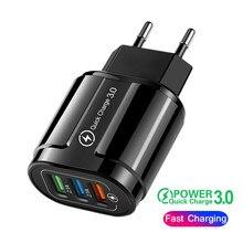 Carga rápida carregador usb rápido para iphone 12 pro max 12 mini samsung s20 s10 xiaomi 10 huawei adaptador do telefone móvel carregamento rápido