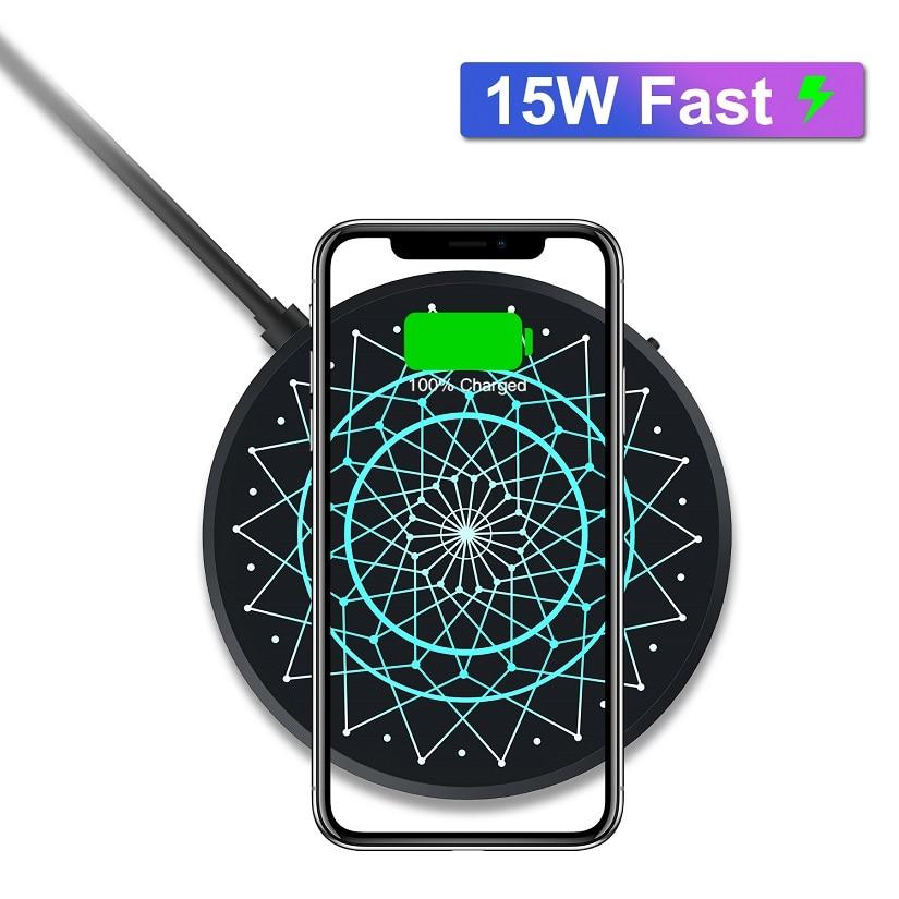 Chargeur sans fil NILLKIN 15W Max pour Huawei P30 Pro pour Xiao mi 9 2.5h charge complète pour iPhone XS XR pour samsung Note 10 S10 S8