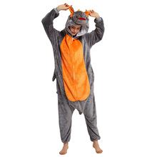 Dragon Onesies Toothless Dragon Kigurumis Unisex  Overalls Zipper Design Flannel Warm Winter Suit Adult Pajamas Animal Pyjama
