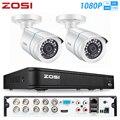 ZOSI 8CH H.265 4-в-1 CVBS AHD CVI TVI Система видеонаблюдения ИК наружная безопасность 1080P камеры видеонаблюдения DVR 1200TVL DVR комплект