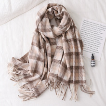 Luxury Brand Scarves Women Plaid Solid Cashmere Scarf Tassel Love Pattern Gift For Lady Pashmina Echarpe Cape Shawls And Wraps