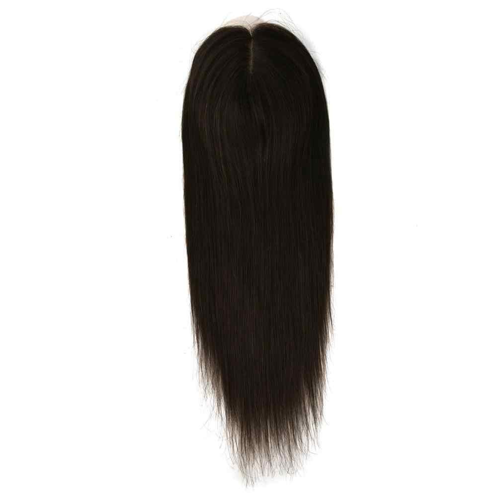 """Vlasy 16 """"20"""" 6*6.5 """"Zijde Basis Met Clip In Remy Haar Toupet Stuk 150% Dichtheid virgin Cuticle Straight Menselijk Haar Topper Pruik"""