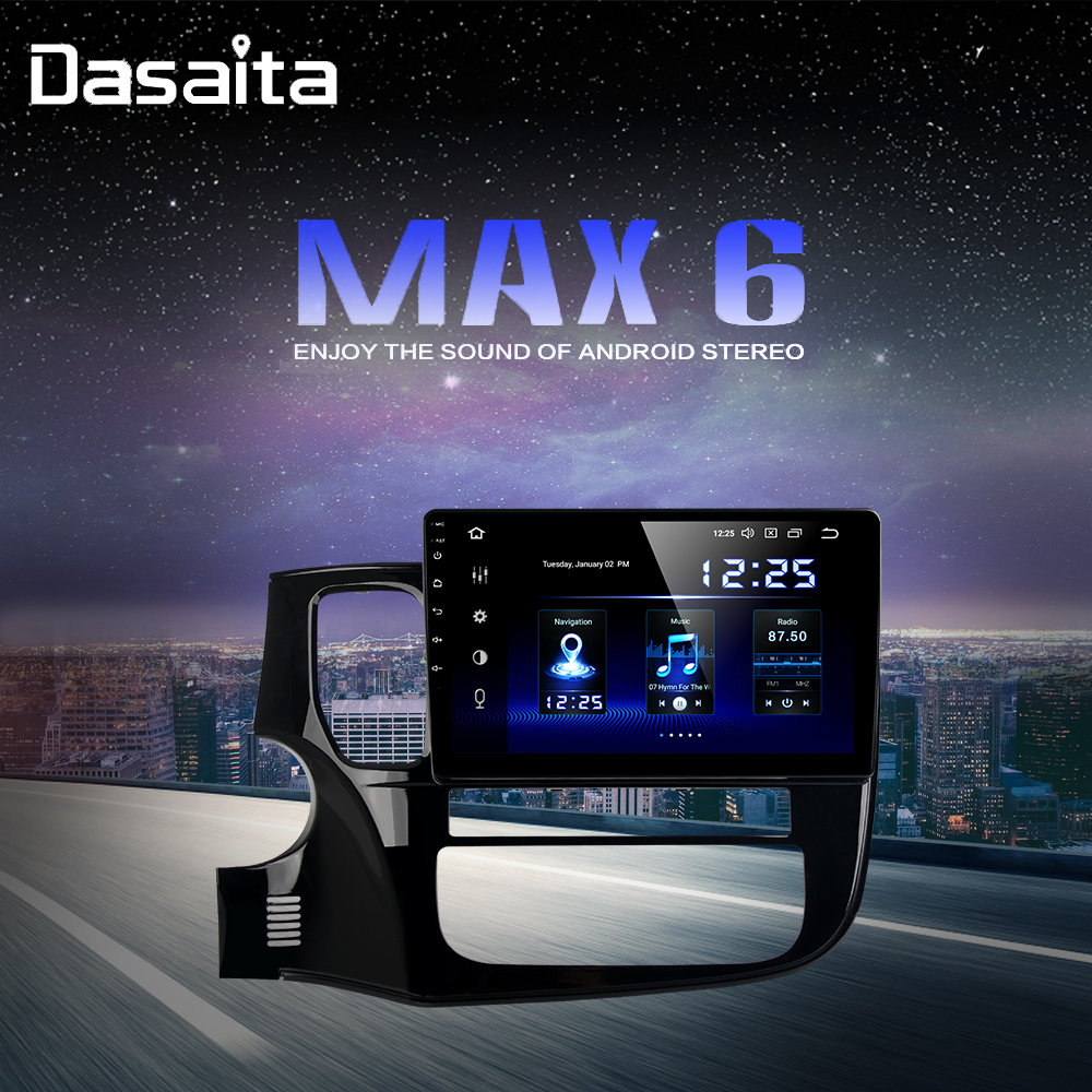 10.2 Autoradio android 9.0 DSP For Mitsubishi Outlander 2014 2015 2016 2017 USB 64GB ROM Bluetooth MP3 image