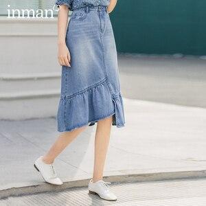 Винтажная модная ассиметричная юбка с рюшами и кошачьими усами, inman, лето 2020