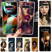 Wumeiyuan Makeup Art TPU Soft Silicone Phone Case Cover For Samsung S6 S7 S7 edge S8 S8 Plus S9 S9 Plus S10 S10 plus S10 E(lite) maydaysmt abstract art phone case cover for samsung s6 s7 s7 edge s8 s8 plus s9 s9 plus s10 s10 plus s10 e lite