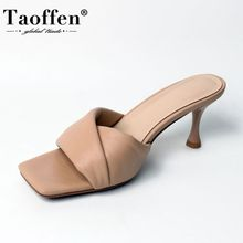 Taoffen Women Sandals Shoes Fashion Solid Color Slippers Lad