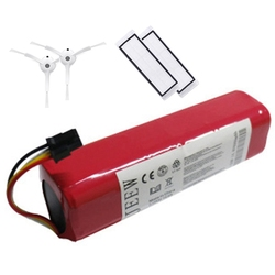 Rechargeable for Xiaomi Mijia Robot Battery + 2Pcs Side Brush/HEPA Filter 14.4V 5600MAh Robot Vacuum Cleaner Accessories Parts