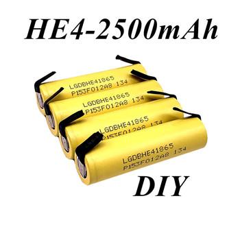 Oryginalny oryginalny nowy oryginalny HE4 18650 akumulator litowo-jonowy 3 7V 2500mah baterii 20A rozładowania + DIY nikiel arkusz tanie i dobre opinie WanEnerg 18650-HE4-2500mAh+DlY Li-ion CN (pochodzenie) Tylko baterie
