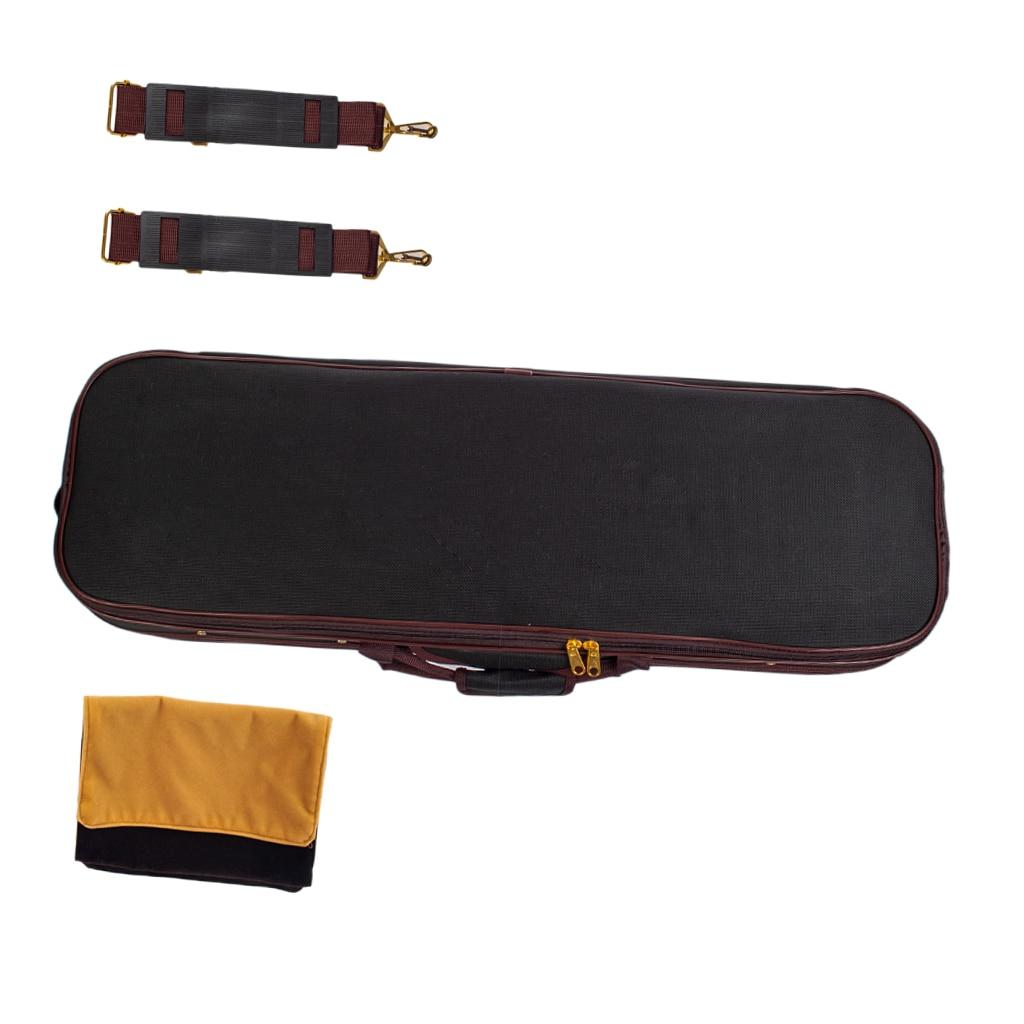Professional Storage Case Bag Protector 90x25x14.5cm for Full Size Acoustic Violins Black