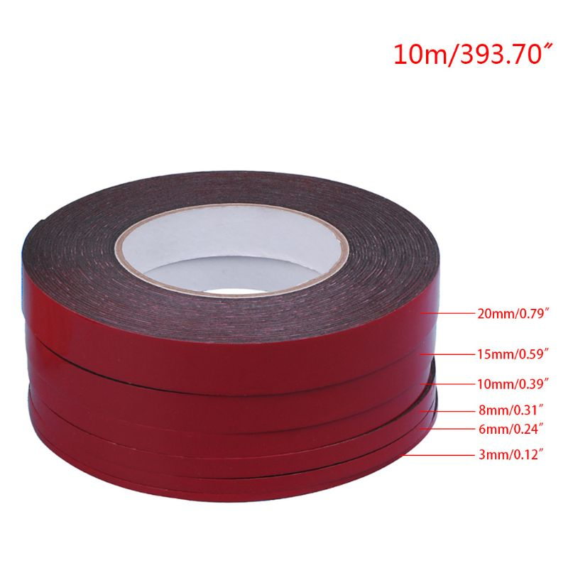 3-20mm 10m Red Double Sided Adhesive Tape Stickers For Mobile Phone LCD Screen PXPA