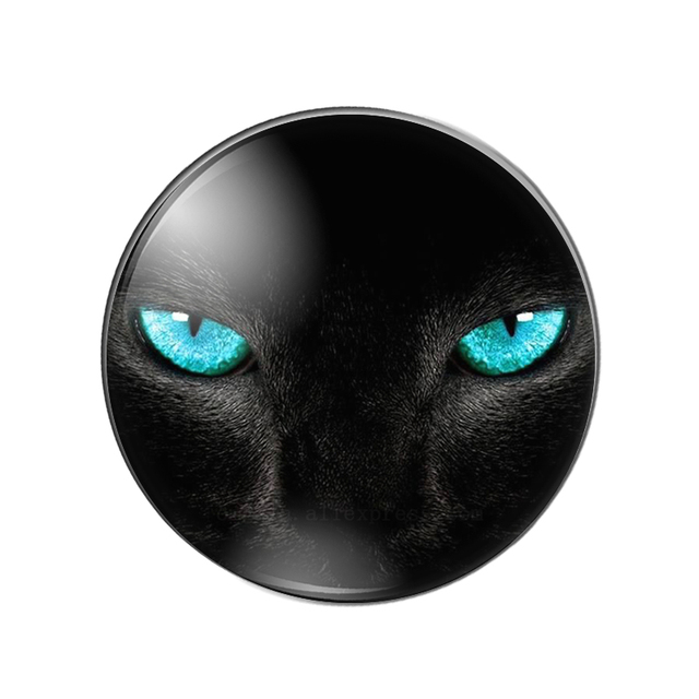 Hot sale 10pcs12/14/16/18/20/22/25/30mm Cat Eyes and Black Cat Handmade Photo Glass Drop Style Cabochons Jewelry Accessories|Jewelry Findings & Components|   -