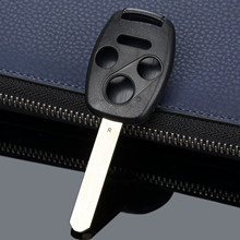 4 düğmeler araba yedek anahtar anahtarsız giriş uzaktan anahtar Fob dış kapak kesilmemiş bıçak HONDA Accord Civic Fit Pilot CR V