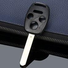 Estuche para mando a distancia de 4 botones para llave de reajuste de coche sin llave estuche para mando a distancia cuchilla sin cortar para HONDA Accord Civic Fit Pilot CR V