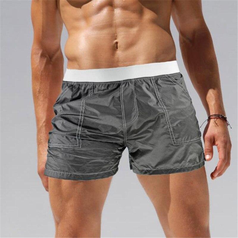 xin black-Sexy Men Swimwear Trunks Transparent Swim Briefs Beach Shorts