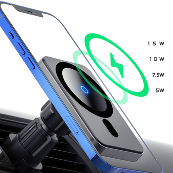 15W Car Charger Fast Wireless Charging Mount Adsorbable Phone Holder For iphone 12 12 Pro Max 12 Mini Mounts & Holder image