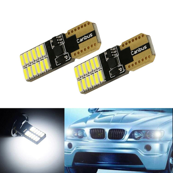 BOAOSI 2x Car Wedge Light W5W T10 LED Auto Lamp Bulb For BMW E46 E39 E91 E92 E93 E28 E61 F11 E63 E64 E84 E83 F25 E70 E53 E71 E60 image