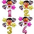 6 шт./лот, Dora The Explorer шары, развивающие шары, фольга, сапоги, детские вечерние шары на день рождения, подарок, украшение, игрушки, номер Globos